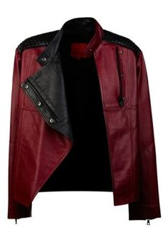 Flash Fiction Boxy Leather Biker Jacket by Manning cartell | PULL YOUR LOOK