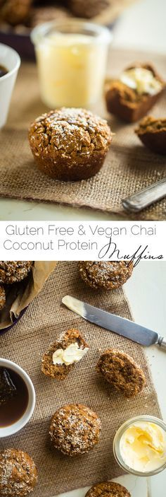 Gluten Free Vegan Vanilla Chai Protein Muffins - These are muffins are loaded with spicy-sweet chai flavor, protein and are SO easy to make! Perfect for a portable, healthy breakfast or snack that freezes well! | Foodfaithfitness.com | @Food Faith Fitness
