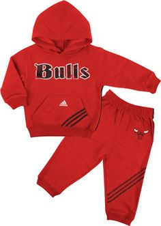 Chicago Bulls Kids (4-7) adidas 3-Stripe Hooded Fleece and Pant Set $34.99