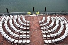 Arrange ceremony seats in a circular pattern around the couple so that everyone can see. http://www.jexshop.com/