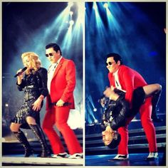 MDNA & PSY Madonna Concert, Gangnam Style, Leather Pants, Tours, Pop, Concerts, Queen, Fashion, Leather Jogger Pants