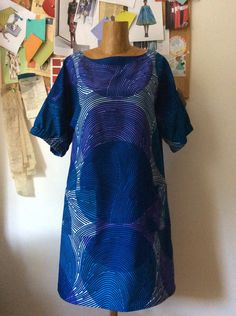 Vlisco fabric and dress pattern D from Stylish Dress Book by Yoshiko Tsukiori