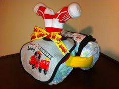 Diaper Tricycle/ Mommy's Hero by KeepsakeCakes on Etsy, $45.00