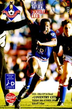 26 October 1993 v Oldham Athletic FL Cup Round 3 Lost 0-2