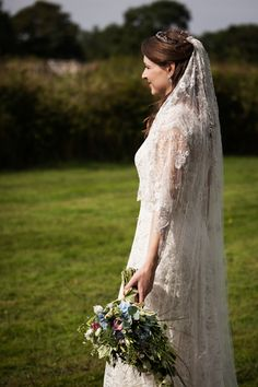 Vintage Inspired Lace Wedding Dress By Sally Lacock