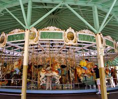 The Crescent Park Carousel in East Providence, Rhode Island has been around since since 1895 and is on the National Register of Historic Sites and Places.