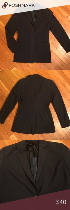 Elie Tahari Dark Navy One Button Blazer Jacket Excellent jacket in pristine condition. A very dark blue, just a step above black. Incredibly professional, sophisticated, and snazzy. Shoulder to hem 25.5 inch, bust about 17 inches across. Sleeves are a drop shorter than wrist length, they are about 22 inches long. Elie Tahari Jackets & Coats Blazers