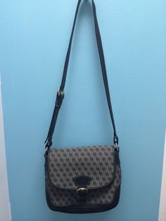 Dooney & Bourke Black Signature Canvas & Leather Handbag Shoulder Classic #DooneyBourke #ShoulderBag