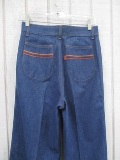 21322c35ffbd VIntage 70 s Levis Orange Tab Jeans High Waisted Bell Bottom Vintage Levis  Striped Pocket