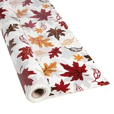 """A pretty addition to your fall wedding reception tables, this disposable tablecloth roll makes cleaning up after your big day a breeze. This table covering is also a great choice for fall parties, birthdays and autumn banquets. 40"""" x 100 ft. © OTC"""
