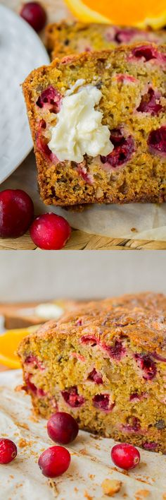 Cranberry Orange Walnut Bread from The Food Charlatan // This bread is super fast and full of tart orange and cranberry flavor!