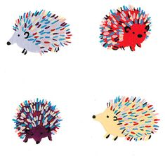 Happy Hedgehogs by MelindaBoyce on Etsy