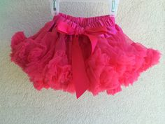 Baby Toddler Girls Pettiskirt Tutu Skirt Hot Pink Fluffy Party Dress Up by adorablebyme on Etsy