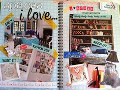 """""""Spaces I Love"""" smashbook page - I've gotta add one of these to my smash book."""