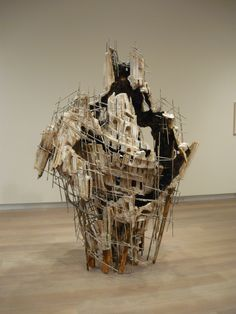 More from SCAD's Gallery.  This is by Diana Al-Hadid
