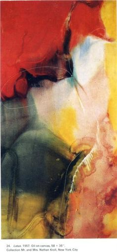 Lotus, 1957.  Artist: Paul Jenkins. Completion Date: 1957. Style: Abstract Expressionism. Genre: abstract painting.