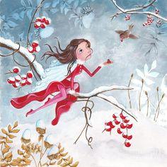 Fairy With Berries ~ Artist: Caroline Bonne-Muller