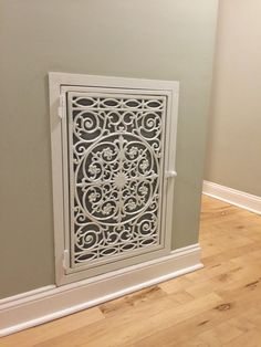 Remodel any room in 15 minutes, Fancy Vents are beautiful decorative return air replacement covers hand-crafted and made from ornamental iron. Home Remodeling Diy, Home Renovation, Home Improvement Projects, Home Projects, Home Improvements, My Living Room, Living Room Decor, Wall Vent Covers, Vent Covers Decorative