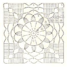 Crochet everything. Crochet Motif Patterns, Granny Square Crochet Pattern, Square Patterns, Lace Patterns, Crochet Squares, Crochet Granny, Crochet Stitches, Art Au Crochet, Beau Crochet