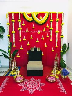 DecorbyKrishna is taking orders for eco-friendly home based events decor, like p. Simple Stage Decorations, Wedding Hall Decorations, Desi Wedding Decor, Marriage Decoration, Flower Decorations, Backdrop Decorations, Festival Decorations, Wedding Blog, Diwali Decorations