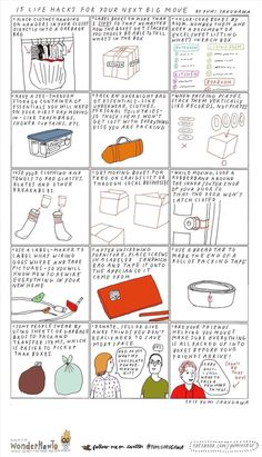 DIY 15 Moving Tips Infographic by Yumi Sakugawa here.Ive moved many many times and these are tips Ive used.