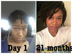 Congrats!! @mona_lisa_x3 ・・・ Loc update 21 months later…boy does time fly when your having fun! I was still getting used to my short starter Locs in the first pic but although my Locs have grown each day is still a process! The fuzzieness I'm cool with and a fresh re-twist is not always necessary (my preference). I wouldn't change it for nothing! Just embracing it everyday! #iamlocd #kinkychicks #4cnaturalhairchicks #starterlocs #maturelocs #naturalhair #locjourney #