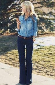 Denim on Denim. That's how southern girls rock it. <3