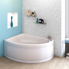 The Premier Pilot Corner Bath is perfect for bathing the kids! They can splash to their heart's content in this spacious bathtub. For more details, visit www.premierbathroomcollection.co.uk #cornerbath #bathtub