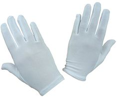N'Ice Caps Girls Stretch White Special Occasion Parade Gloves (Adult Large/X-Large)