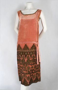 Flapper Dress! Babani metallic embroidered flapper dress, 1920s