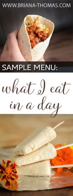Trim Healthy Mama friendly sample menu: What I Eat in a Day!  By Briana Thomas