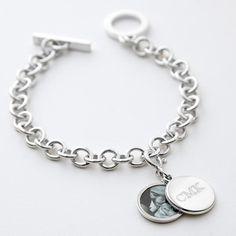classic swing locket charm bracelet