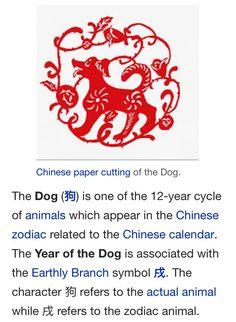 Chinese Zodiac - Dog Year