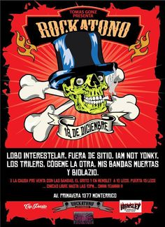 Afiche Rockatono por Capitan Porrito #rockatono #afiche #diseño #capitanPorrito #rock