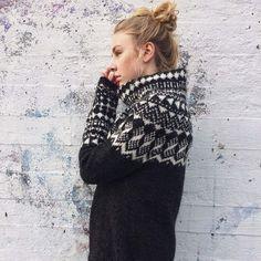 """412 Likes, 33 Comments - Dagga (@litla_prjonabudin) on Instagram: """"One of my new designs for Lopi 36, the sweater Öræfi knitted in Léttlopi #litlaprjonabudin…"""""""