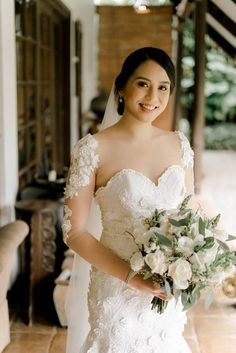 """""""Learn when to let go because you can't control everything,"""" shares our real bride, Paula-Monzon-Ladiao. Read her exciting bridal journey here! Bridal Looks, Bride, Wedding Dresses, Inspiration, Beautiful, Fashion, Wedding Bride, Bride Dresses, Biblical Inspiration"""
