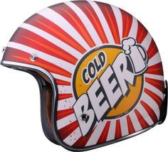 COLD BEER! - LS2 OF583 Bobber Open Face Helmet - This is an epic helmet. Goggles included.