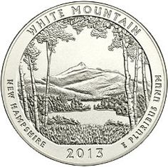 White Mountain 5 Ounce Silver America The Beautiful - MintProducts.com - Special Collector's Finish in Box and with COA also available!