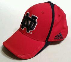 Notre Dame Irish Red Adidas ClimaLite FitMax 70 Flex Hat Cap Men's L/XL football #adidas #NotreDameFightingIrish