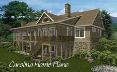 Hillside home plan with open floor layout (LG-2715-GA)
