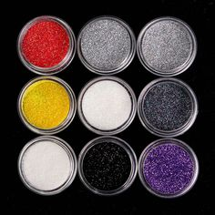 9pcs Mixed Colors Glitter Eyeshadow Powder Pigment Loose Shinning Powders Mineral Spangle Eye Makeup Kit Face Cosmetic Set #Affiliate