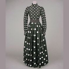 Norell Black and White Polka Dot Evening Gown  American, late 1960s