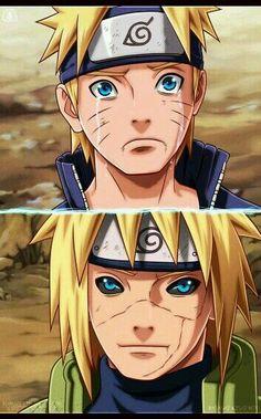 minato and naruto. father and son Naruto Shippuden Sasuke, Anime Naruto, Minato E Naruto, Manga Anime, Kakashi Sharingan, Sakura Uchiha, Gaara, Noragami, Super Anime