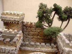 2102 - Castillo romano para figuras de 10-12 cm Belem, Diy Games, Firewood, Cribs, Nativity, Texture, Christmas Ideas, Winter, Xmas