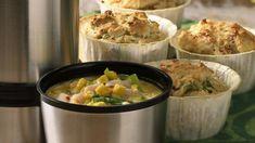 Med suppe på termos og fristende matmuffins, blir det mat for både store og små på tur. 1 porsjon gir 6-8 store og saftige muffins.