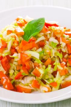 Cabbage Slaw with Tomato, Red Onion, Cilantro and Lime Recipe