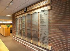 McDonalds - Timeline of goals and accomplishments - Photo and copy printed on frosted acrylic.