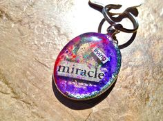 Living Miracle Resin Keychain - SOLD