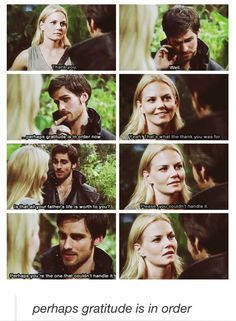 """Perhaps you're the one who couldn't handle it."" Loved this scene lol, Hook and Emma! :)"