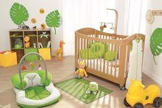 Aménager une chambre de bébé, tendance jungle